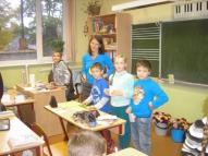 3.b kopā ar jauno skolotāju